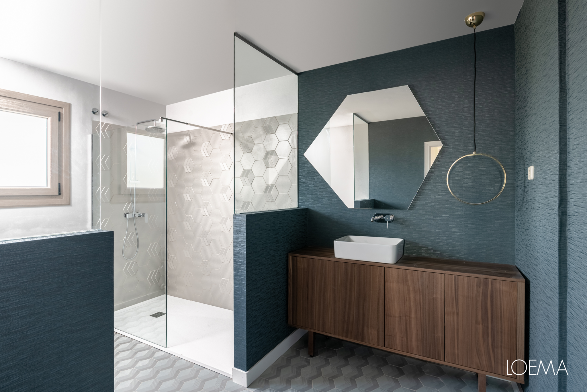 Reforma de baño | Azulejos geométricos