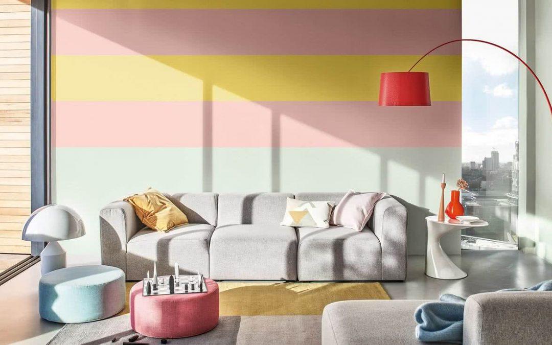 Pared de inspiracion combinando los tonos para pintar paredes esta temporada PV2020