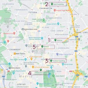 Mapa coworking