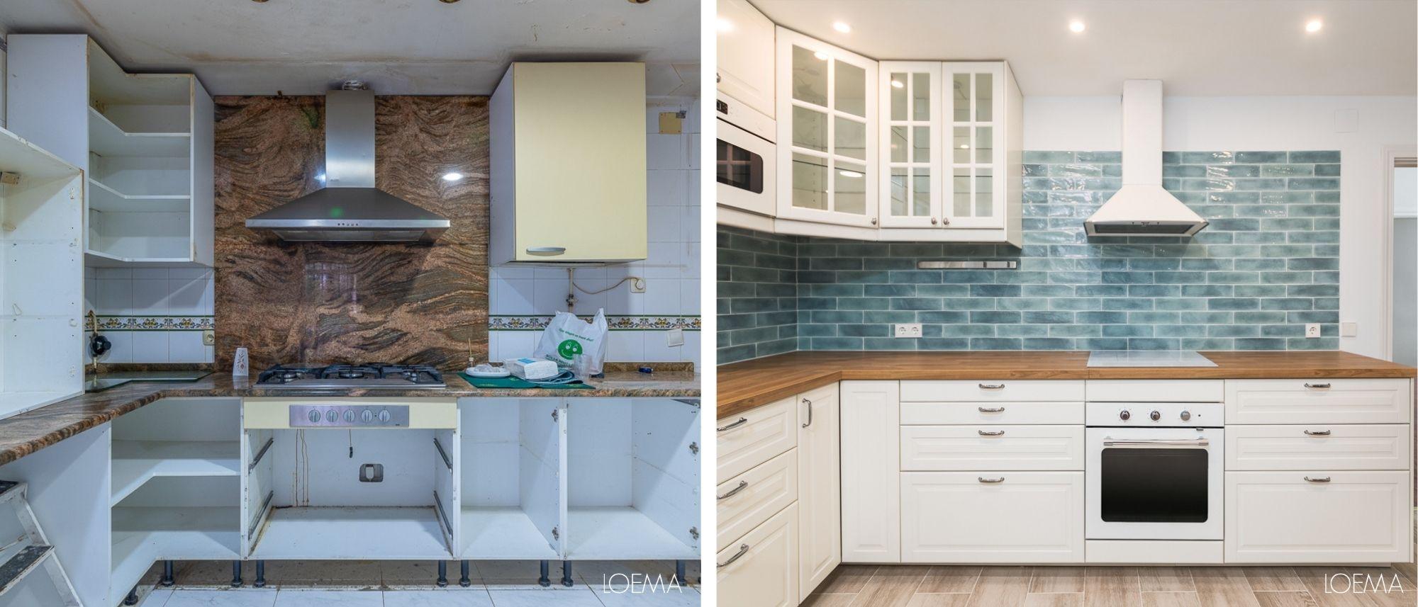 antes y despues de una cocina