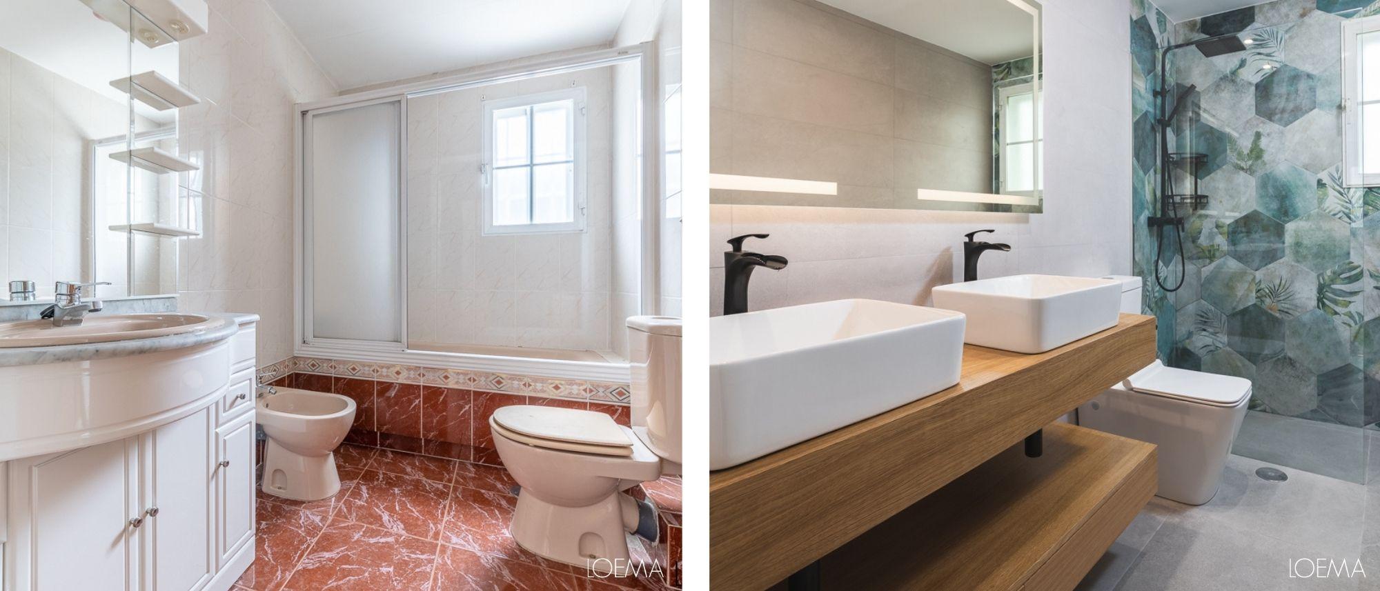 Reforma integral baño antes y despues